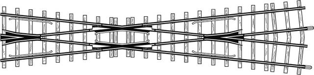4219000  Croisement court 12°, 182 mm