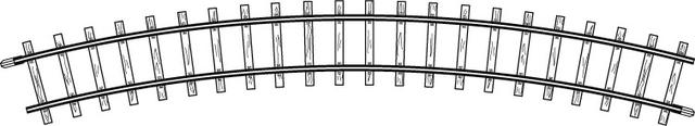 4230000  Rail courbe, R 330 mm, 30°