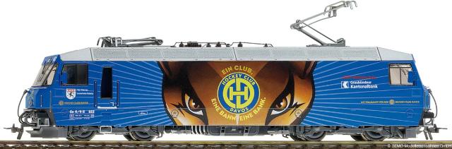 1659 142 RhB Ge 4/4 III 652 HO 2 rails