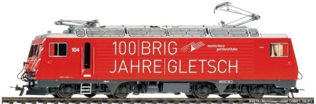 "1262284  MGB HGe 4/4 II 104 ""100 Jahre Brig-Gletsch"""