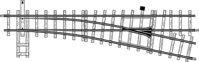 4211000  Aiguillage gauche, 12°,162,3 mm, R 515 mm