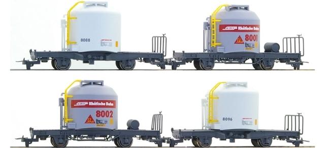 7452111  RhB Set 4 wagons ciment Uce