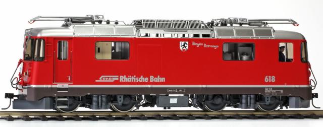 "9258 128 RhB Ge 4/4 II 628 ""Bergün/Bravuogn"" phares ronds Om"
