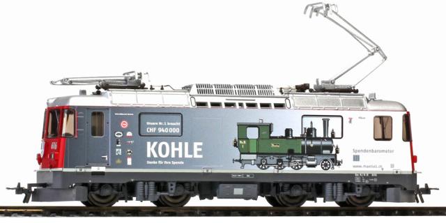 1658 186 RhB Ge 4/4 II 616 HO 2 rails