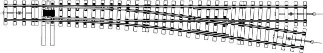 9110000  Aiguillage droit Om (8,2°), écartement 22,2mm