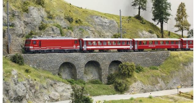 7262 510 Set de départ BVZ Glacier Express années 80