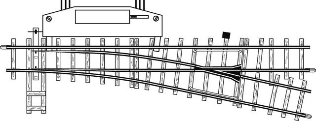 4206000  Aiguillage électrique droit, 12°,162,3mm, R 515