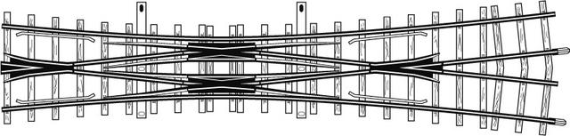 4216000  Traversée de jonction double courte, 12°, 182 mm