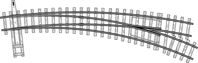 4294657  Aiguillage courbe gauche, R 660/380