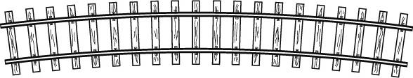 4294 567 Rail courbe, R 520 mm , 15°