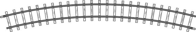 4240000  Rail courbe, R 376 mm, 30°