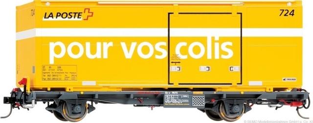 """9469105  RhB Lb-v 7865 conteneur Poste """"pour vos colis"""" Om"""