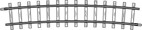 4275000  Rail courbe, R 515 mm, 12°