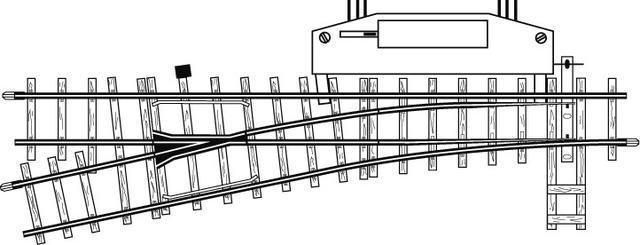 4207000  Aiguillage électrique gauche, 12°, 162,3mm, R 515